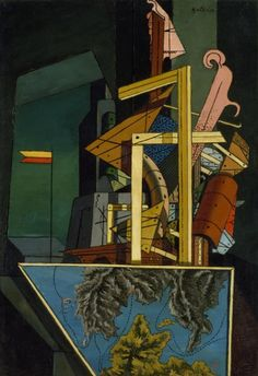 """""""The Melancholy of Departure 1916 Giorgio de Chirico ©DACS 2018 Notes and pic Tate Modern"""" Modigliani, Italian Painters, Italian Artist, Art Picasso, Jardin Des Tuileries, Art Terms, Andrew Wyeth, Expositions, Traditional Paintings"""