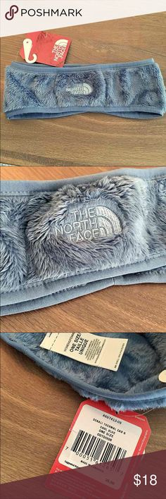 NWT - The NORTH FACE DENALI Earwarmer Authentic NORTH FACE Ear Warmer Headband - Women's Denali Thermal Ear Gear in Cool Blue - Classic ear warmer lined with soft, plush fleece - Embroidered logo in lighter blue *Price is Firm* North Face Accessories Hair Accessories