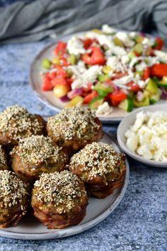 Cukkinis fasírtmuffin Muffin, Baked Potato, Pork, Potatoes, Baking, Ethnic Recipes, Kale Stir Fry, Potato, Bakken