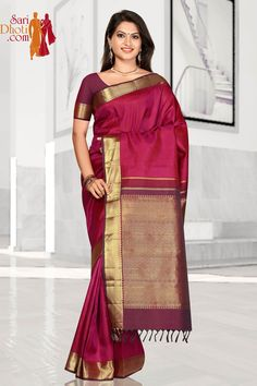Traditional #kanchipuram saree in rich red with pure zari work. Buy now before it vanishes: @saridhoti.com