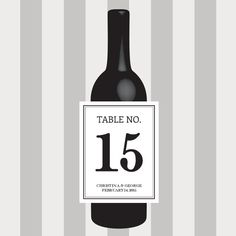 Table Number Wine Labels, Wedding Wine Label, Custom, Personalized, Label, Place Cards, Sticker, Party, Favor, Decoration, Decor, Classic by DesignsByTenisha, $12.50