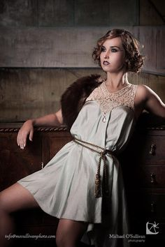 Duck Egg Silk 1920s style Great Gatsby Dress with by AliceHalliday, €200.00
