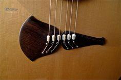 2010 Klein Guitars Pink Ivory Moon - Acoustic Guitar - Brazilian Rosewood Original Klein Bridge from 1970s Bridge