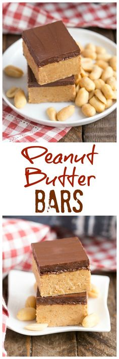 Better Than Reese's Peanut Butter Bars | Easy No-Bake Bars that provide your Reese's fix!!! @lizzydo