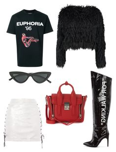 """For walking #1"" by varvara2v on Polyvore featuring мода, Off-White, Boohoo, Le Specs, MISBHV, Topshop и 3.1 Phillip Lim"