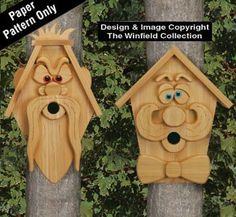 Porch Makeover  Cedar Men Birdhouses 2 Pattern <3 This is an Amazon Associate's Pin. Find the item on Amazon website by clicking the VISIT button.
