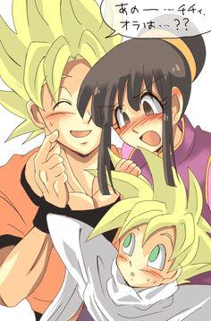 Chichi yet again nagging Goku and Gohan....