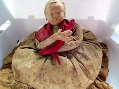 "17"" Antique All Cloth Tagged Soviet Union USSR Tea Cozy Doll Russian Mint 