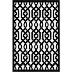 Acurio Latticeworks in. x 32 in. x 4 ft. Black Azzaria Vinyl Decor Panel at The Home Depot - Mobile Screen in porch bottom rails