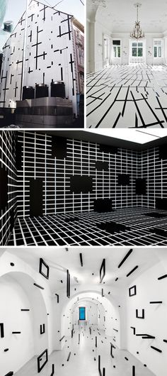Esther Stocker #patternpulp Geometry and Spatial Design