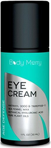 nice Eye Cream For Dark Circles and Wrinkles - Reduces Puffiness, Crow's Feet, Fine Lines and Bags - Natural & Organic with Vitamin C, Jojoba Oil, Peptides, Hyaluronic Acid & More - 1 oz - Body Merry