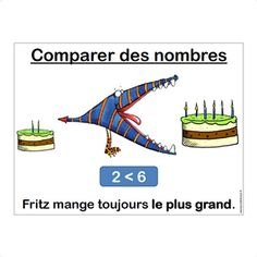 Fritz mange toujours le plus gros Cap Maths, 2nd Grade Math Worksheets, Cycle 3, French Lessons, Multiplication, Teaching Math, Mathematics, Art For Kids, Classroom