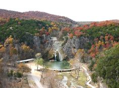 The Arbuckle Mountains, located in south central Oklahoma, feature a rolling landscape scattered with waterfalls, lakes & hiking trails and include landmarks such as Turner Falls Parks and Chickasaw National Recreation Area.