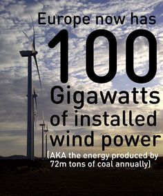 Europe now has 100 gigawatts of installed, active wind power. The United States could do much more, if we were to deploy the technology and incentivize such good business options for communities, individuals, small businesses and power providers.