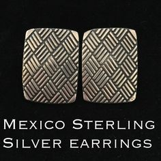 """Vintage Mexico Sterling Silver Stud Earrings This is a beautiful pair of Vintage Mexico Sterling Silver Ornate Stud Earrings. Marked MEXICO 925. Measures 1"""" long X .75"""" wide. These earrings are in great vintage condition! Ready to wear at a very affordable price! Add these to your beautiful jewelry collection  Thanks for stopping by! I ship out same day as purchase! Bundle & Save Even More! Please ask any questions before purchasing. Please make REASONABLE offer using the offer feature only…"""