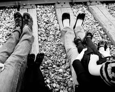 """Photography family luggage On Railroad Tracks 