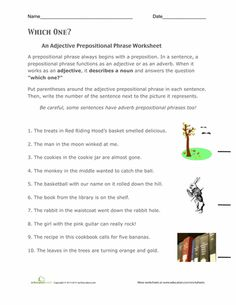 prepositional phrases grammar worksheets and worksheets on pinterest