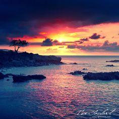 Sunset in Hawaii  by `IsacGoulart  Waimea Bay, Oahu - Hawaii