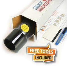 Buy Decorative Film Security and Sun Control Window Film, 4 Mil, Black 50, Light