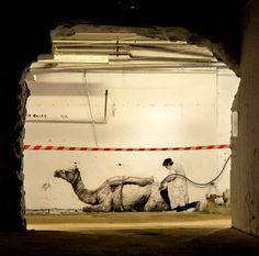 Here are now the latest creations of French street artist Charles Leval, aka Levalet, whose collages, overflowing with creativity, cover the walls of the stre