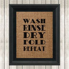 Printable Laundry Room Sign  Burlap  Wash Rinse by GotPaperDesigns, $5.00