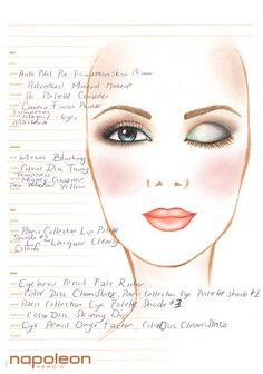 Napoleon Perdis Makeup Matters Paris Collection Face Chart