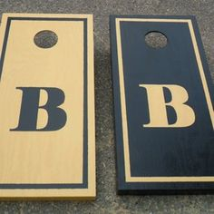 Design idea for painting non-identical cornhole boards