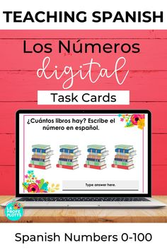 Check out these interactive Los Números 0-100 Digital Task Cards for Google Slides. THey are for anyone looking to reinforce students' understanding of the numbers 0-100 in Spanish in a fun, digital format Great for distance learning. SpanishClassroom #TeachingSpanishNumbers #DistanceLearning