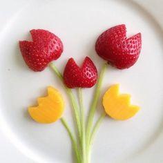 scandinavian-inspired florals food art