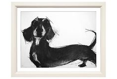 """Valerie Davide """"Flash"""" - she does paintings/drawings of all types of dogs. Scottish Terrier, Dachshund Art, Daschund, Weenie Dogs, The Draw, Pics Art, Dog Art, Illustrations, Dog Lovers"""
