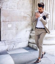 Mens Casual Dress Outfits, Mens Casual Suits, Blazer Outfits Men, Formal Men Outfit, Mens Fashion Blazer, Stylish Mens Outfits, Suit Fashion, Style Fashion, Formal Dresses For Men