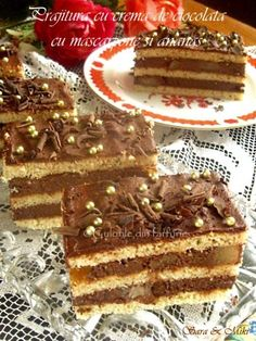 » Prajitura Magie (Desteapta)Culorile din Farfurie No Cook Desserts, Sweets Recipes, Delicious Desserts, Cake Recipes, Cooking Recipes, Romanian Desserts, Food Cakes, Yummy Cakes, Nutella