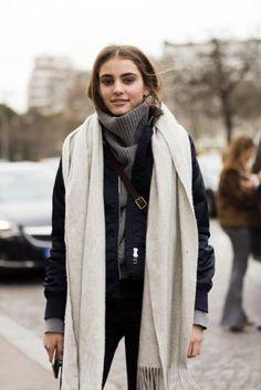 wool scarves street style