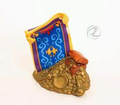 Aladdin Magic Carpet Figurine Character Disney Schmid Blue Porcelain Great $24.99 FREE SHIPPING #Aladdin #figurine #magiccarpet