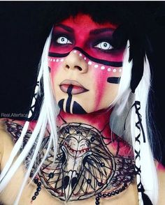 one halloween makeup looks Halloween Karneval, Halloween Kostüm, Halloween Cosplay, Halloween Makeup, Halloween Costumes, Fx Makeup, Cosplay Makeup, Costume Makeup, Horror Make-up