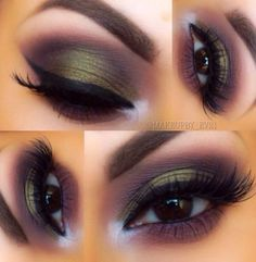 olive green smokey eye ~ we ❤ this! moncheribridals.com #weddingeyemakeup