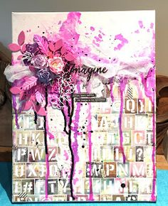 France Ringuette proCRAFTination blog: More than Words and Lindy's Stamp gang June challenge