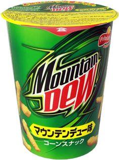 Mountain Dew Cheetos in Japan.