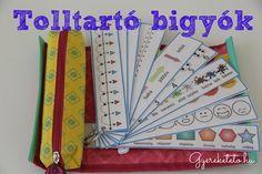 A tolltartóbigyó segítség az iskola első éveiben. Elkészíthető sokféle témában, most számegyenest, színeket, a hét napjait és más okosságokat tölthetsz le.