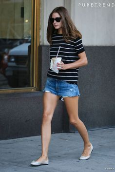 look jeans | striped tee