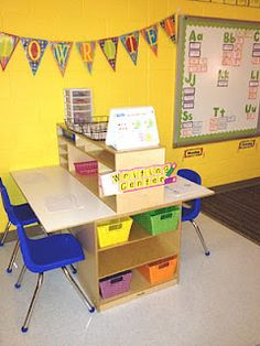 Lakeshore is inspired by this classroom idea for a writing center. Thanks for sharing, Bromiley!