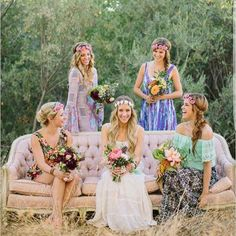 Isn't this #bohemian #bridesmaids outfit simply gorgeous?  So #unconventional so #unique & so beautiful  . . . #bohowedding #bohochic #bohemianbride #wedding #weddingday #bridesmaidsdress #bridesmaiddress #weddingphotography #weddingphotoideas #bridephoto #weddingdress #weddinginvitation #weddinginvites #bridalshower . . .