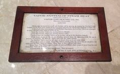 Vintage Railway Exchange Chicago Steam Car Instruction Sign