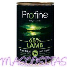 Profine Cordero. Profine Pure meat, Es una gama superpremium de comida húmeda para perro a base de carne.