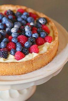 Raspberry Tart with Lemon Curd Whipped Cream
