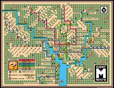 Awesome Map of the D.C. Metro Super Mario Style [Image]