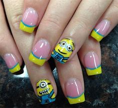 Minions Nails 2013/ 2014 | Despicable Me 2 Nail Art Designs | Fabulous Nail Art Designs