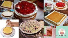 Geléias e cremes como o creme de confeiteiro são ótimas opções de recheio.Porém, por causa da consistência, estes recheios podem acabar escorrendo para fora do bolo.