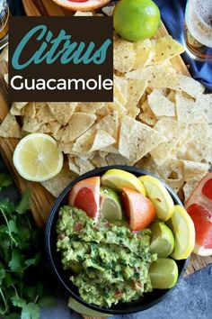 Citrus Guacamole captures the juicy, bright flavors of some of your favorite fruits in a savory dip that brings a burst of sunshine into your mouth. Citrus Recipes, Avocado Recipes, Mexican Food Recipes, Healthy Recipes, Ethnic Recipes, Dip Recipes, Simple Recipes, Chicken Recipes, Best Guacamole Recipe