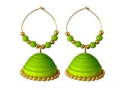 Handmade quilling earring / Jhumka - Tia paper craft
